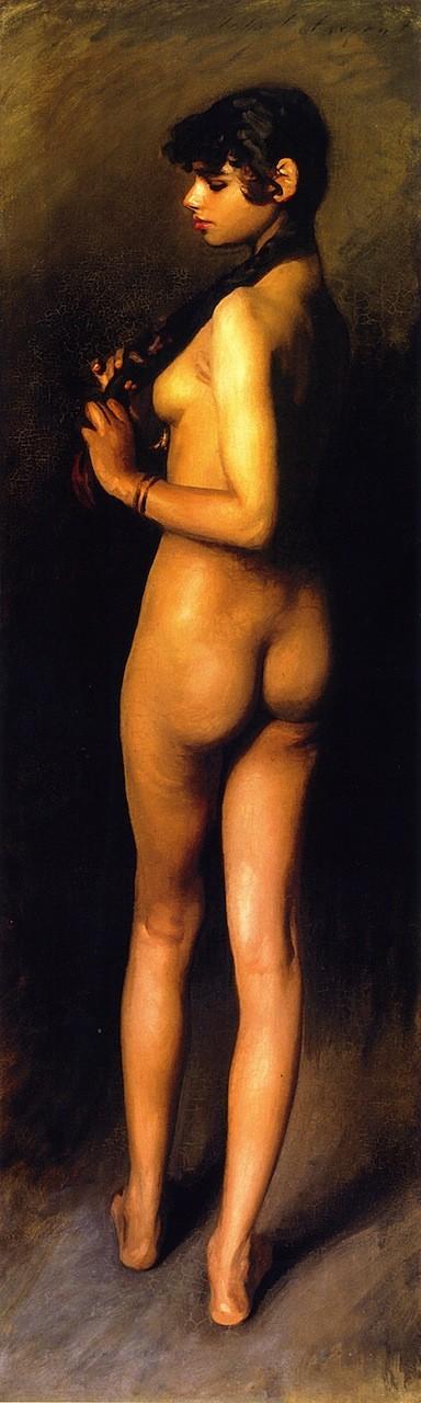 Nude Study of an Egyptian Girl, 1891 John Singer Sargent